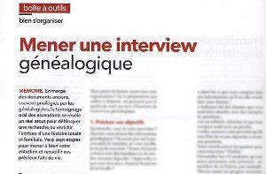 interroger anciens généalogie interview
